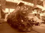 Eine der hübschesten Lokomotiven, die man so kennt - mit Sepia Effekt gleich doppelt so schön!