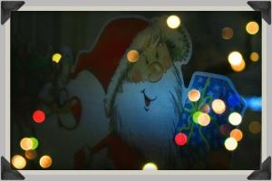 Weihnachtliche Fensterdekoration