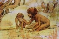 Ein Holobild (Frau mit Kind)